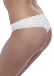 Daisy Lace Thong White