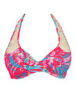 Wild Sun Halter Bikini Top Tropical Punch