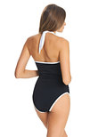 Back To Black High Neck Swimsuit Black