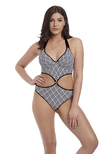 Gatsby Underwire Swimsuit Monochrome