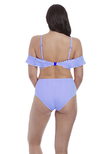 Totally Stripe High Coverage Bikini Brief Cobalt