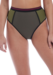 Club Envy High Coverage Bikini Brief Khaki