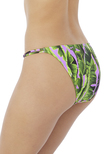 Jungle Oasis Low-Rise Bikinihose Cassis